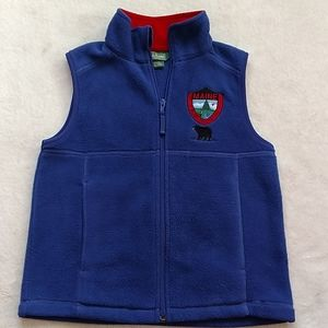 L.L. Bean boys fleece vest, size 8